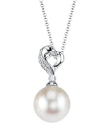 White South Sea Pearl & Diamond Melissa Pendant