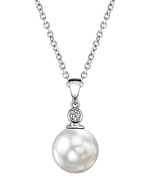 South Sea Pearl & Diamond Michelle Pendant