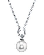 South Sea Pearl & Diamond Morgan Pendant