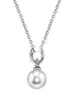 South Sea Pearl & Diamond Morgan Pendant