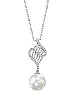 White South Sea Pearl & Diamond Nancy Pendant