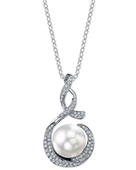 South Sea Pearl & Diamond Pippa Pendant