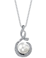 South Sea Pearl & Diamond Pippa Pendant