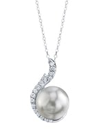 South Sea Pearl & Diamond Rebecca Pendant