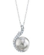 South Sea Pearl & Diamond Rebecca Pendant