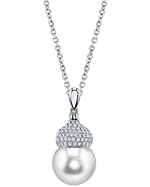 South Sea Pearl & Diamond Riley Pendant
