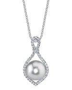 South Sea Ruth Pearl & Diamond Pendant