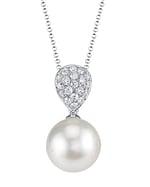 White South Sea Pearl & Diamond Sofia Pendant
