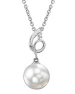 Akoya Pearl & Diamond Symphony Pendant- Choose Your Pearl Color