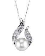 White South Sea Pearl & Diamond Tiara Pendant