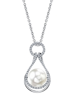 South Sea Pearl & Diamond Victoria Pendant