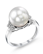 White South Sea Pearl & Diamond Nora Ring