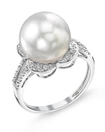 White South Sea Pearl & Diamond Rafaella Ring