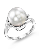 White South Sea Pearl & Diamond Sia Ring