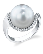 South Sea Pearl & Diamond Swing Ring