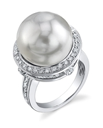 South Sea Pearl & Diamond Bella Ring
