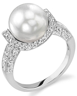 South Sea Pearl & Diamond Sparkling Jewel Ring
