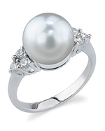 South Sea Pearl & Diamond Sea Breeze Ring