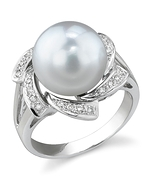 South Sea Pearl & Diamond Nova Ring