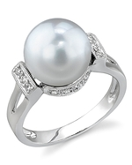 South Sea Pearl & Diamond Nicole Ring