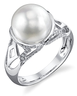 White South Sea Pearl & Diamond Abby Ring