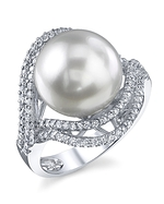 South Sea Pearl & Diamond Clara Ring