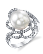 South Sea Pearl & Diamond Annabelle Ring
