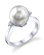 South Sea Pearl & Diamond Camilla Ring