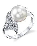 South Sea Pearl & Diamond Eva Ring