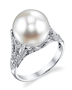 White South Sea Pearl & Diamond Gabriella Ring