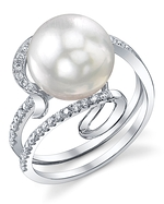 South Sea Pearl & Diamond Ivy Ring