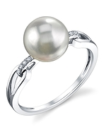 South Sea Pearl & Diamond Holly Ring