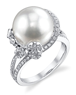 White South Sea Pearl & Diamond Kay Ring