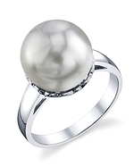 South Sea Pearl Laurel Ring