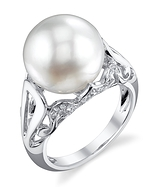 White South Sea Pearl & Diamond Mona Ring