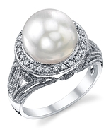 South Sea Pearl & Diamond Natasha Ring