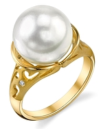 South Sea Pearl & Diamond Shannon Ring