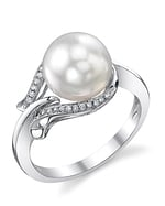 South Sea Pearl & Diamond Willow Ring