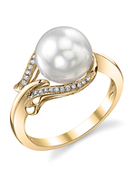 South Sea Pearl & Diamond Willow Ring - Third Image