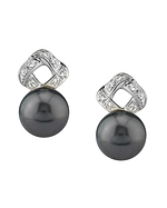 Tahitian South Sea Pearl & Diamond Charlotte Earrings