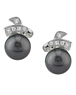 Tahitian South Pearl & Diamond Chloe Earrings