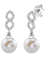 Freshwater Pearl & Diamond Harper Earrings