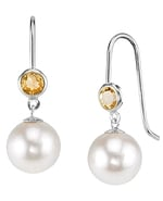 Freshwater Pearl & Citrine Delilah Earrings