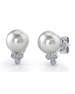 Freshwater Pearl & Diamond Kimberly Earrings