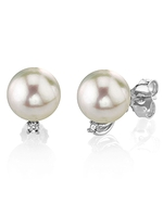 Freshwater Pearl & Diamond Sasha Earrings