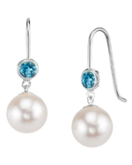 Freshwater Pearl & Topaz Delilah Earrings