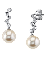 Freshwater Pearl & Diamond Wendy Earrings