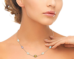 14K Gold Drop-Shape White Freshwater Pearl Tincup Alana Necklace - Third Image