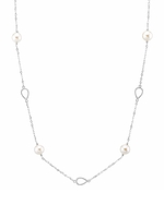 14K Gold Freshwater Pearl Opera Length Tincup Vera Necklace
