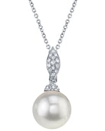 Freshwater Pearl & Diamond Connie Pendant